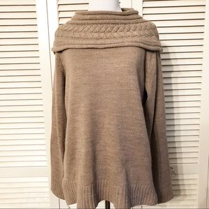 89th & Madison | Oatmeal Fold Neckline Sweater